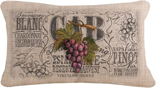 Heritage Lace Natural 12 X20 Wine Country Pillow
