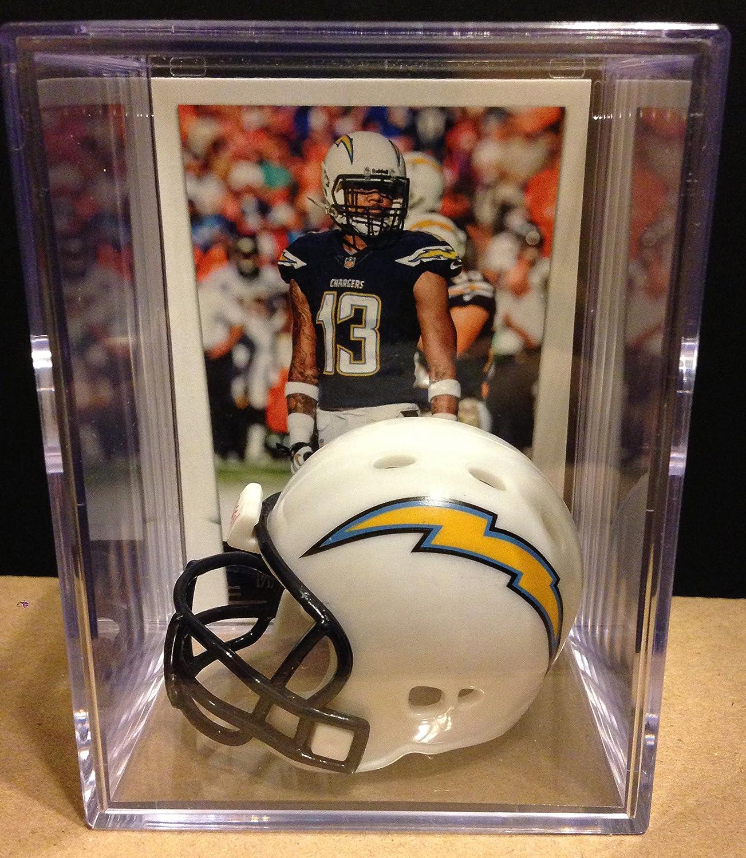 San Diego Chargers NFL Helmet Shadowbox w/ Keenan Allen card Riddell