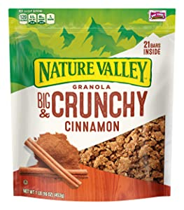 Nature Valley Granola, Granola Crunch, Cinnamon, Crunchy Granola Bag, 16 oz