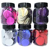 Large Round 24mm Disk Sequin Selection Pack (6x 35g Reusable Tubs) Made in the UK