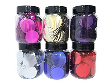 Sequins 19 colours available. Sewing Tools & Supplies 100 x 24 mm Large Round Disc Sequins