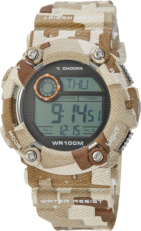 Diadora DI-017-03 Reloj Militar de Camuflaje para hombre, Diadora Storm para Jungla y Desierto