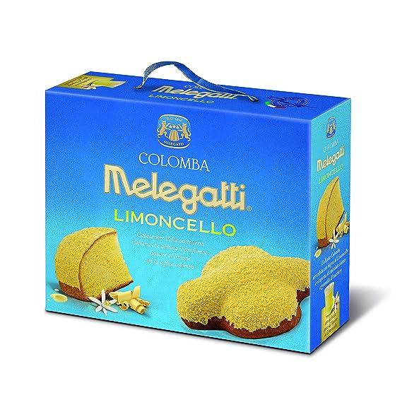 Colomba Limoncello Melegatti, Colomba Con Almíbar De Limoncello Recubierta De Chocolate Blanco Y Granillo De