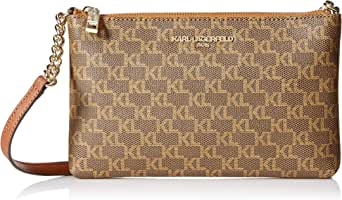 Karl Lagerfeld Paris womens Charlotte Signature Crossbody