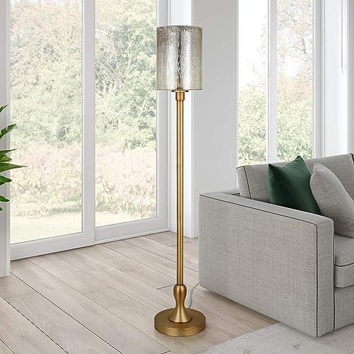 Henn Hart FL0366 Seeded Glass Lantern Floor Lamp