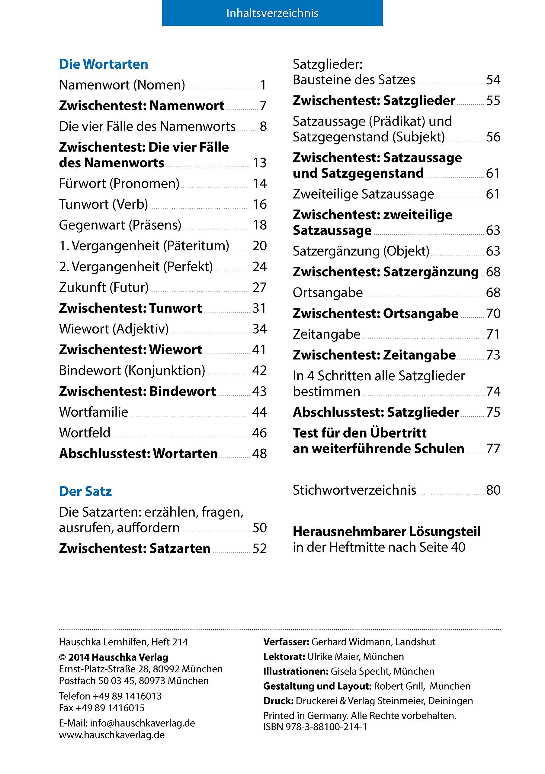 Grammatik 4. Klasse: Amazon.de: Gerhard Widmann, Gisela Specht: Bücher