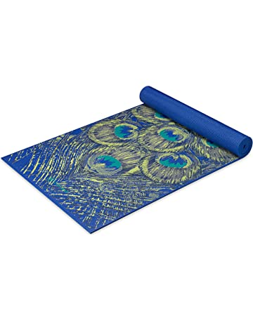 0e6a8108f Gaiam Yoga Mat - Premium 6mm Print Extra Thick Exercise   Fitness Mat for  All Types