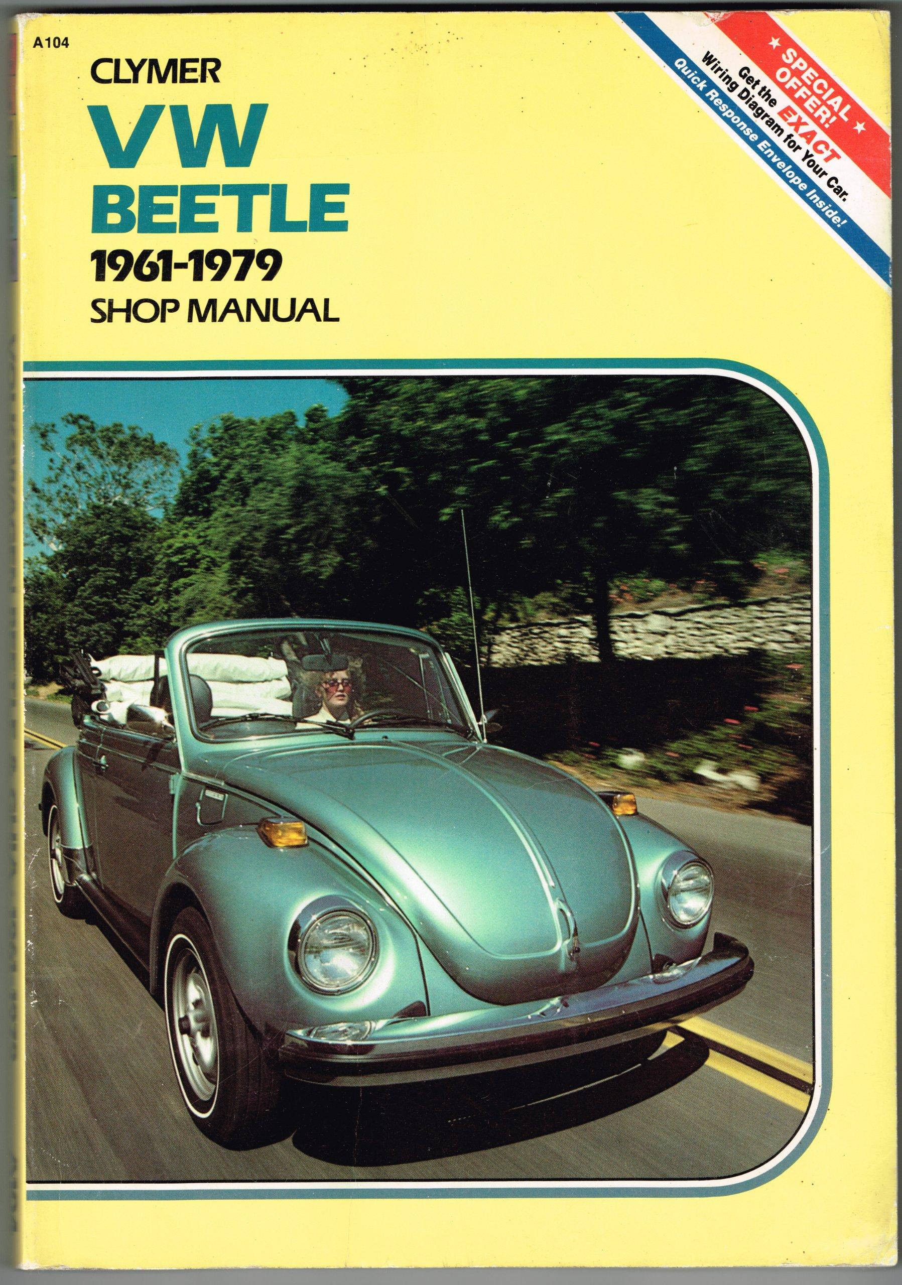 volkswagen beetle and ghia 1961 1979 shop manual eric jorgensen rh amazon com volkswagen beetle manual window crank bracket volkswagen beetle manual