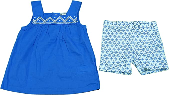 CARTER/'S GIRL/'S BLUE /& WHITE 2T SHORTS NEW