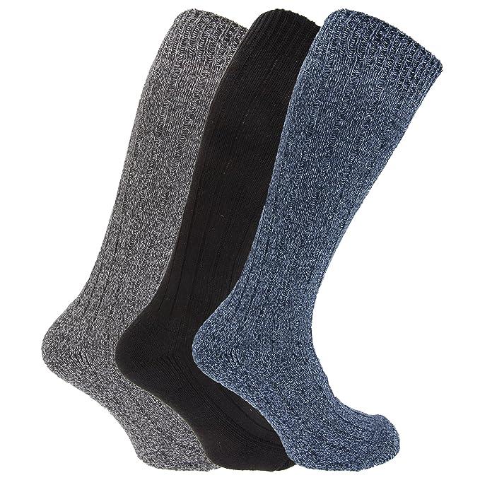 Calcetines largos con mezcla de lana con suela acolchada (Pack de 3) (39