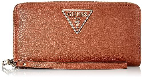 Guess - Aretha, Carteras Mujer, Marrón (Cognac), 2x10x21 cm ...