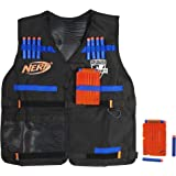Official Nerf Tactical Vest N-Strike Elite Series Includes 2 Six-Dart Clips and 12 Official Nerf Elite Darts For Kids, Teens, and Adults