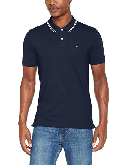 e640757b296461 Tommy Jeans Herren Essential Detail Kurzarm Polo Shirt  Amazon.de   Bekleidung