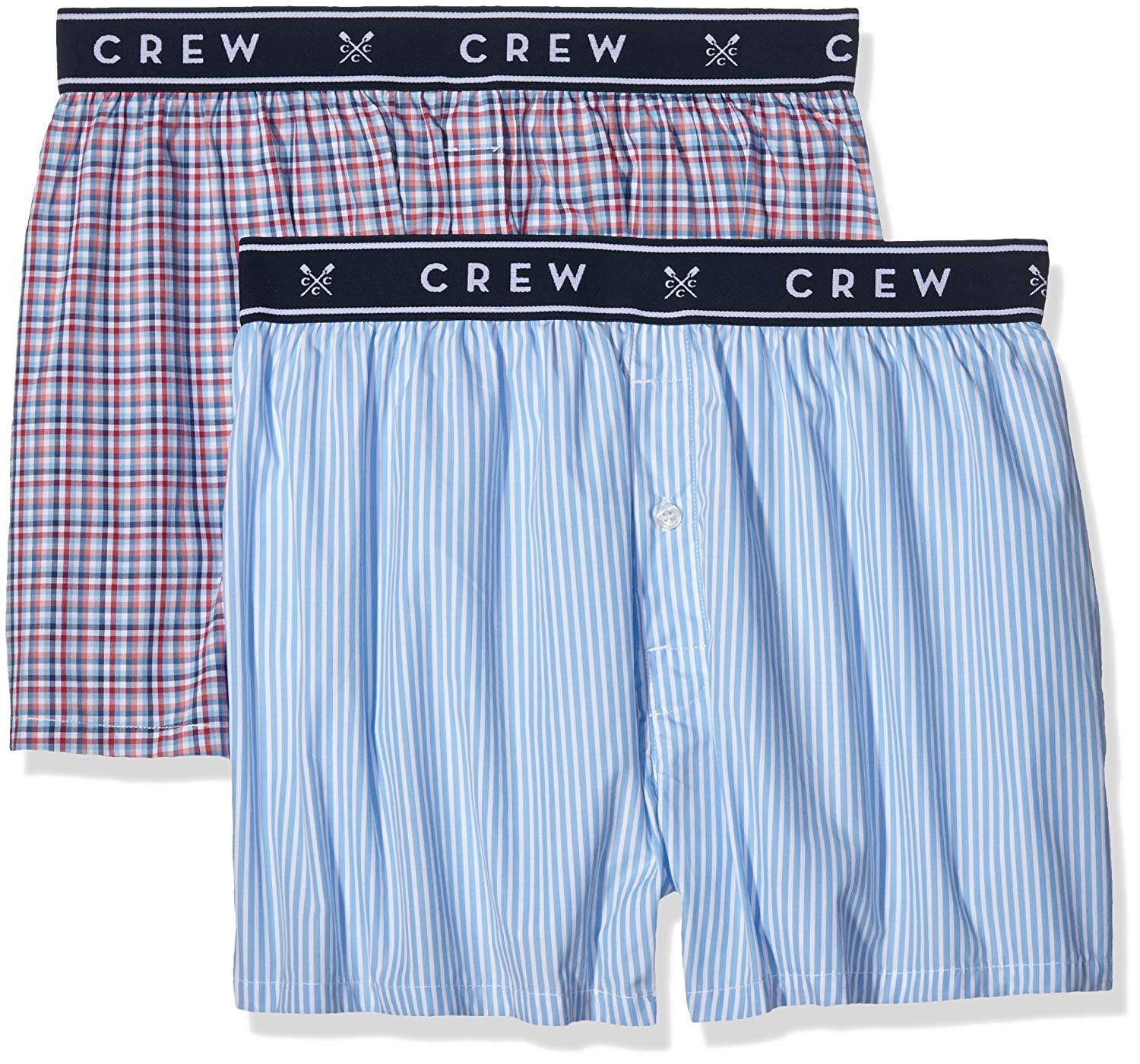 Crew Clothing Men's Pack of 2 Woven Boxer Shorts