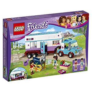 Best LEGO 41125 Horse Vet Trailer Building Kit set for girls