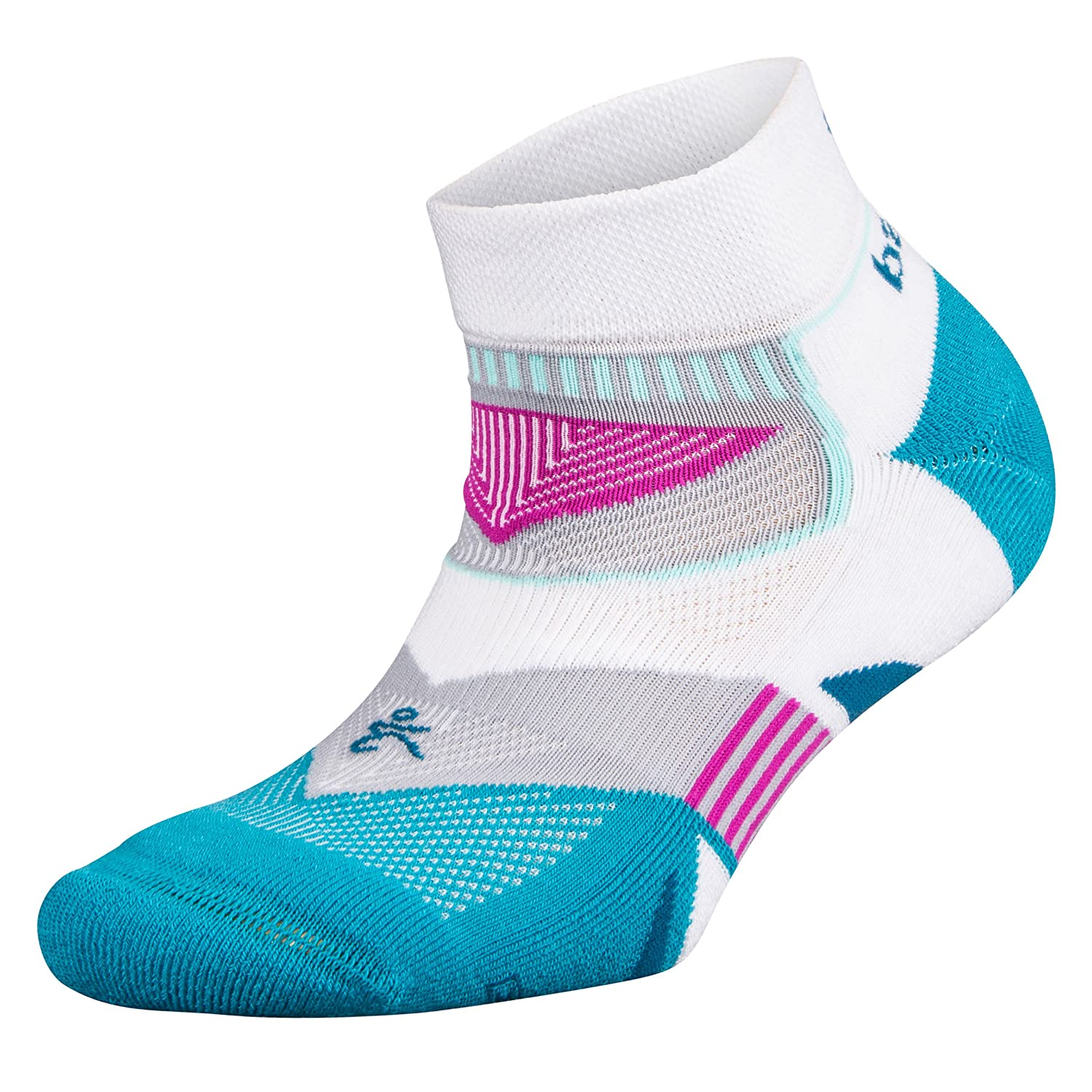 Balega Women's Enduro V-Tech Low Cut Socks (1 Pair), White/Lake Blue, Medium Balega Socks 8924-1860