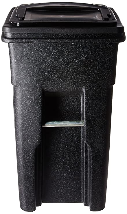 229cbe8fa93152 Amazon.com: Toter 025532-R1209 Residential Heavy Duty Two Wheeled Trash Can  with Attached Lid, 32-Gallon, Blackstone: Home & Kitchen