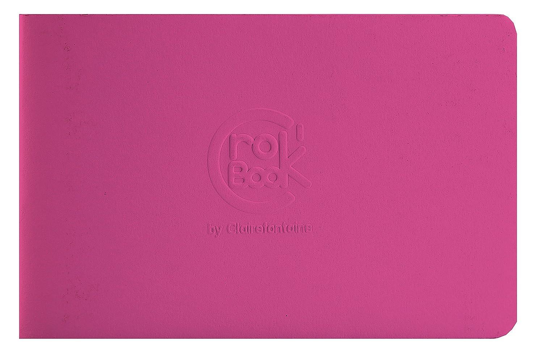 Clairefontaine 60346C Crok'Book Quaderno, 17 x 11 cm, Fucsia Clairefontaine 60346C Crok' Book Quaderno Jardinage