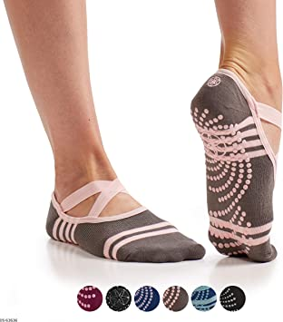 Amazon.com: Calcetines Gaiam Barre | agarre antideslizante ...