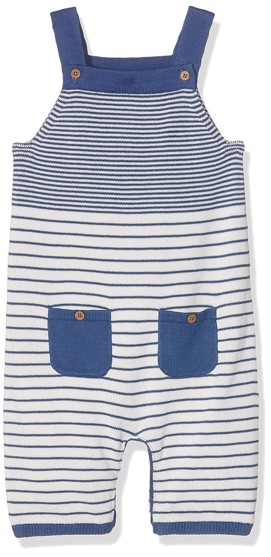 Kite Baby Stripy Knit Dungarees Blue (Navy) 3-6 Months BU032