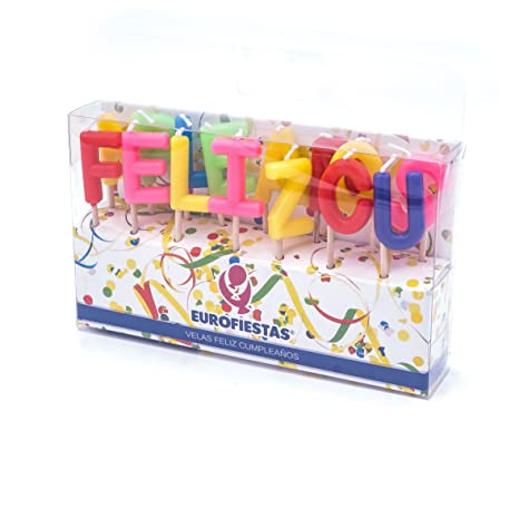 Velas letras feliz cumpleaños: Amazon.es: Hogar