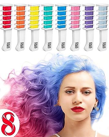 haarkreide kamm auswaschbares haarfarbemittel temporare haarfarbe fur helle und dunkle haare 8 farben
