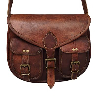 5b075cbe569e Amazon.com  cuero 14 Inch Leather Crossbody Satchel Ladies Purse Women  Shoulder Bag Tote Travel Purse Genuine Leather (chocolate brown)  Shoes