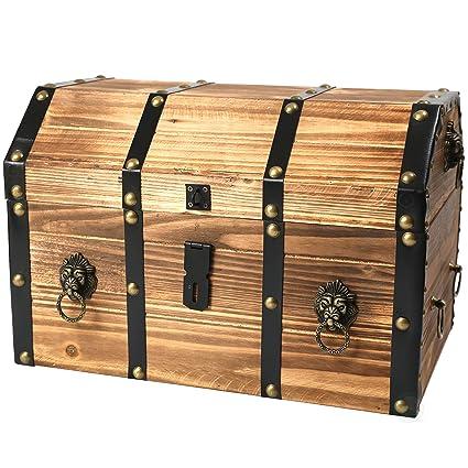 Attractive Amazon.com: Vintiquewise(TM) Large Wooden Pirate Lockable Trunk  SK15