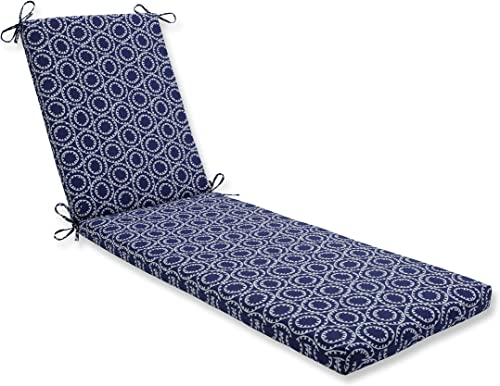 Pillow Perfect Outdoor/Indoor Ring a Bell Navy Chaise Lounge Cushion