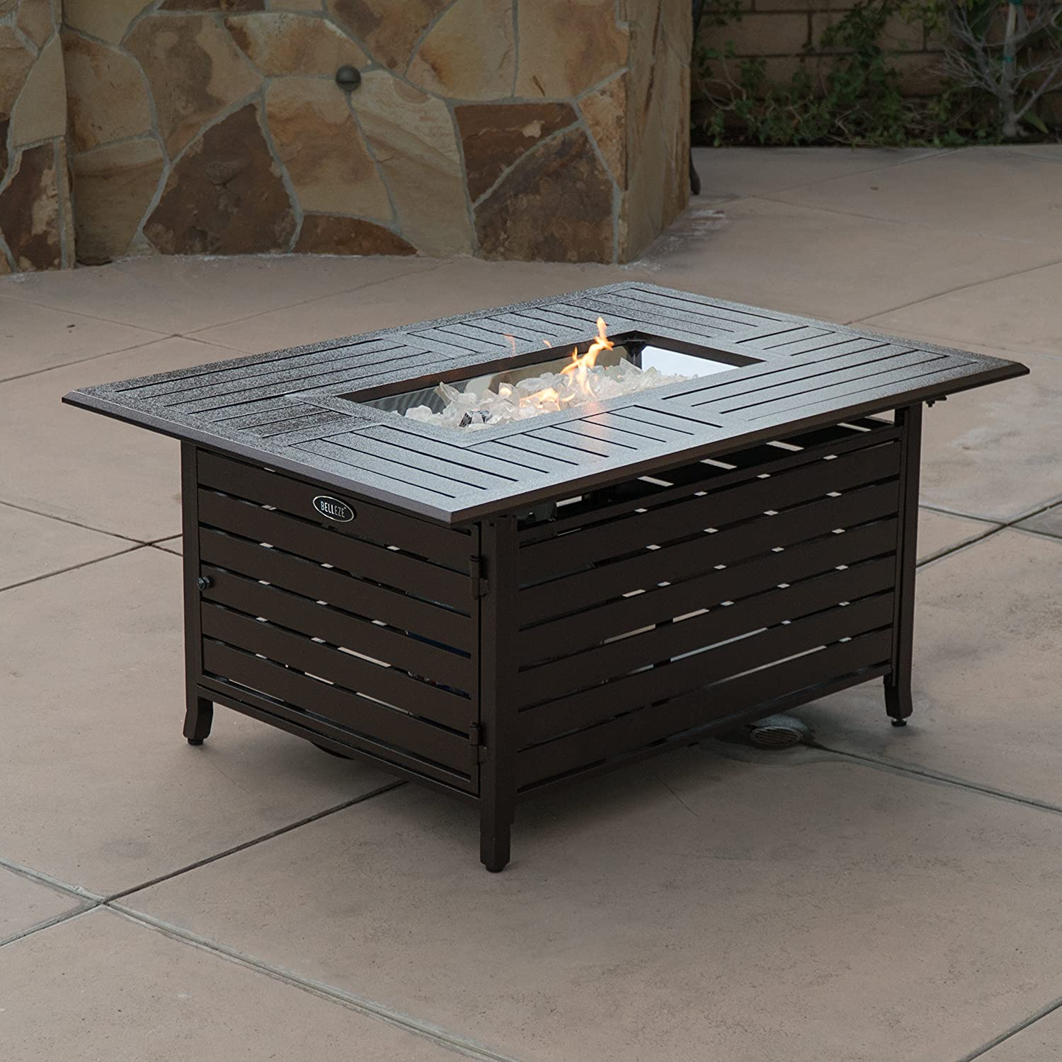 Rectangular Fire Pit With The Elegant Sense
