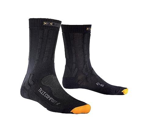 X-Socks Trekking - Calcetines de senderismo, tamaño 35-38, color charcoal
