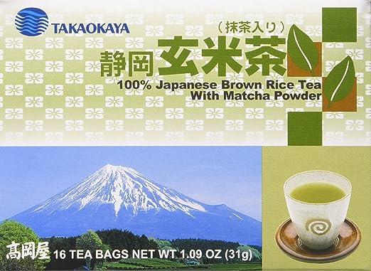 takaokaya japonés café Arroz té con Matcha en polvo (Genmai ...