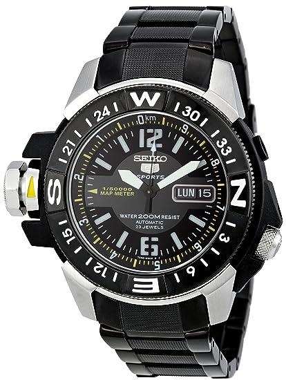 Seiko Reloj Analógico Automático para Hombre con Correa de Acero Inoxidable - SKZ231K1: Amazon.es: Relojes