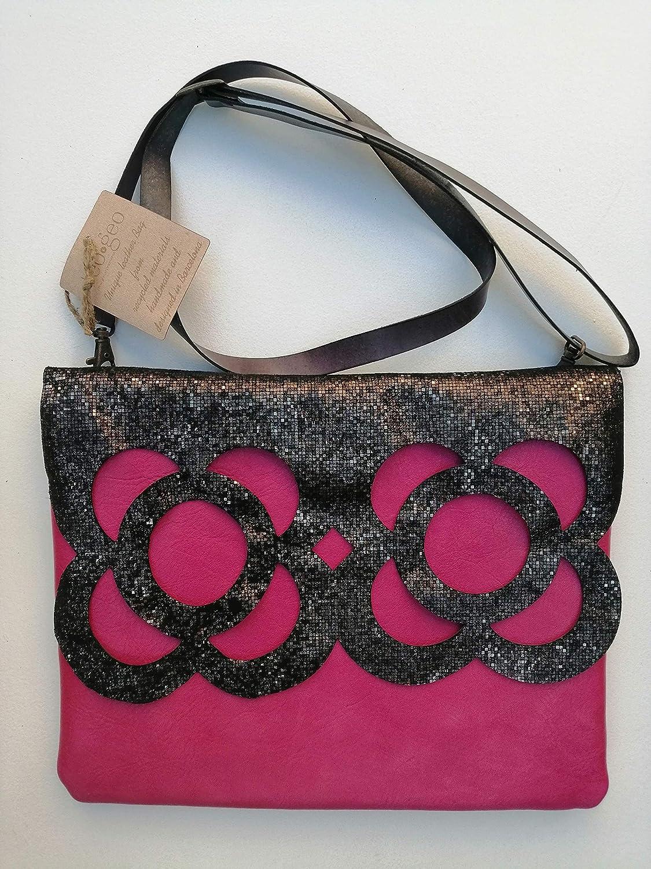 Bolso Bandolera Flor de Barcelona Violeta: Amazon.es: Handmade
