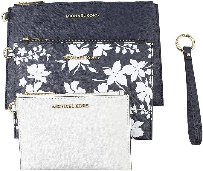 19e0a357f444 MICHAEL Michael Kors Women s Medium Jet Set Travel Floral Wristlet ...