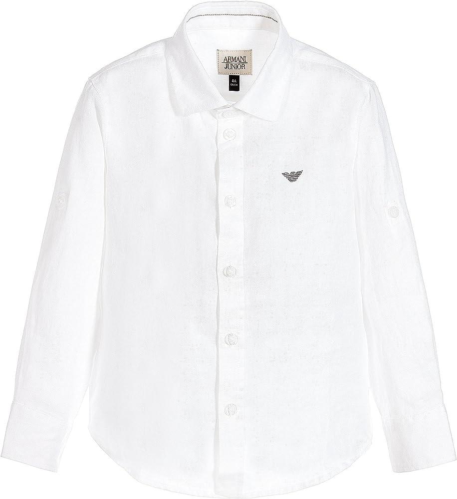 Armani - Camisa - para niño blanco Bianco: Amazon.es: Ropa y accesorios