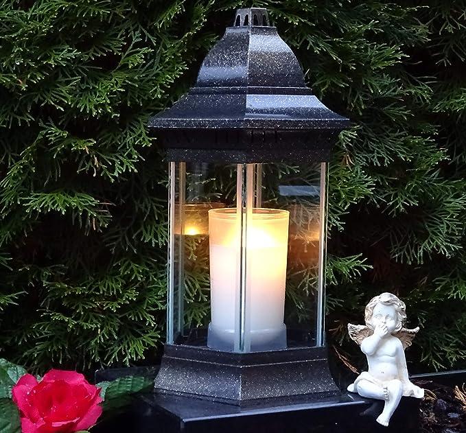 ? Grablaterne Grablampe Grablicht 30,0cm incl. Grabkerze Grabschmuck Grableuchte Laterne Kerze Licht Grabdekoration