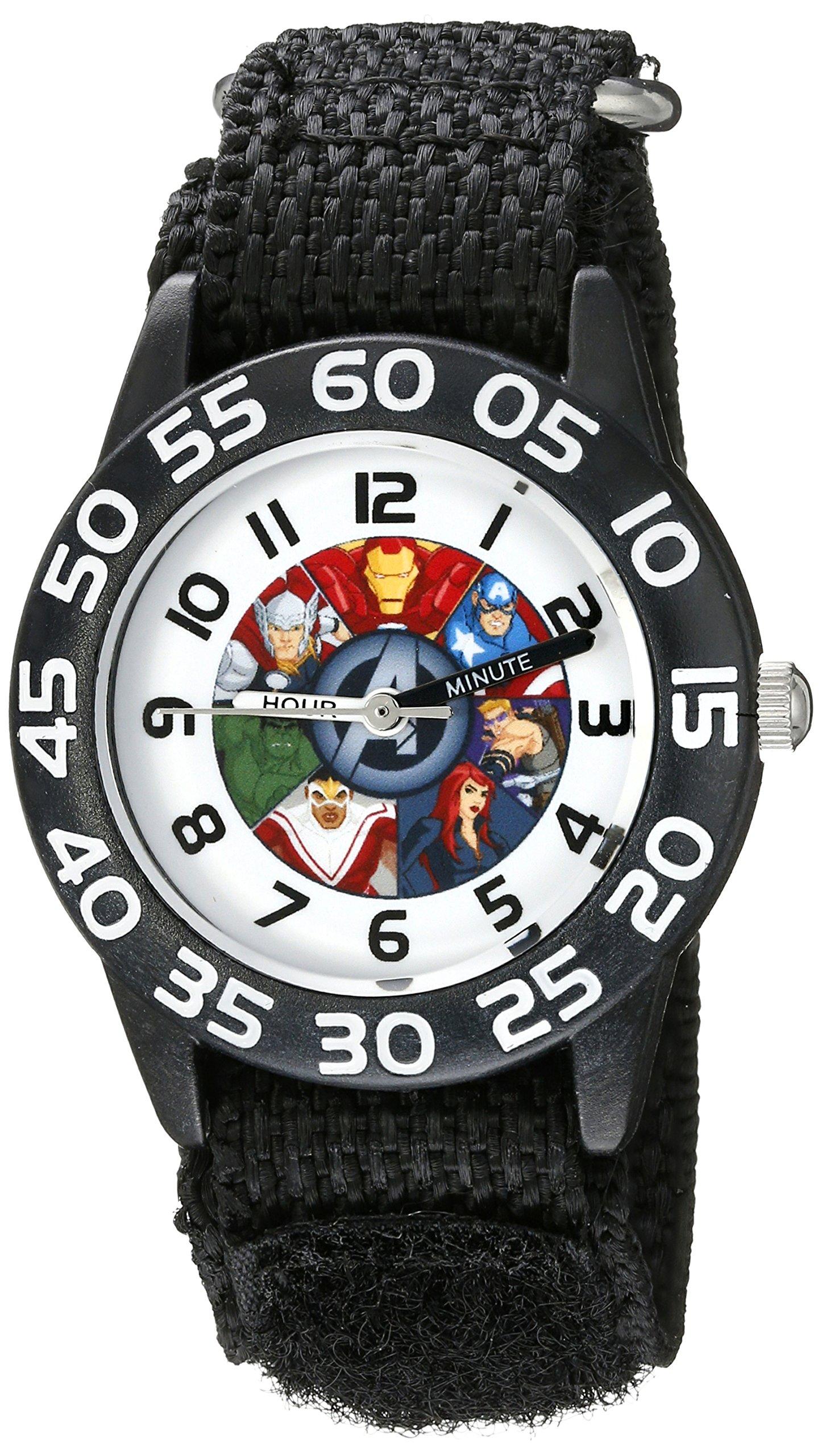 Marvel Kids' W002624 Avengers Time Teacher Analog Display Analog Quartz Black Watch by Marvel