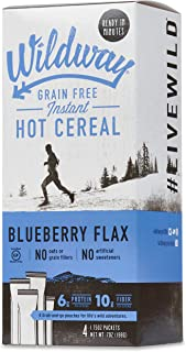 product image for Wildway Keto Hot Cereal | Blueberry | Certified Gluten Free Instant Breakfast Cereal, Low Carb Snack | Grain-Free, Keto, Paleo, Non-GMO, No Artificial Sweetener | 2 pack