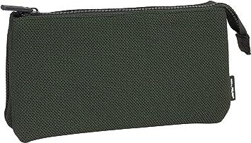 MILAN Portatodo 3 Compartimentos Knit Khaki Green Estuches, 22 cm, Verde: Amazon.es: Equipaje