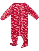 Leveret Girls Footed Fleece Sleeper Pajama (Size 6M-5 Years)