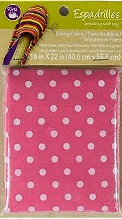 Dritz Espadrilles Lining Dot Fabric, 16