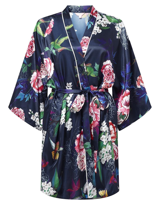 6c5dbc0cfb Lipsy Womens Oriental Floral Print Robe Blue Sleepwear Nightwear L   Amazon.ca  Clothing   Accessories
