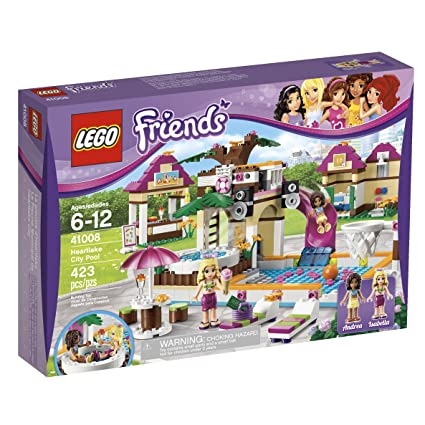 Amazoncom Lego Friends Heartlake City Pool 41008 Toys Games