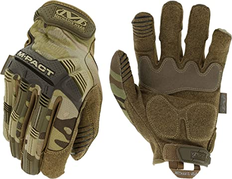 Brown New Mpact M-Pact Original Full Finger Gloves