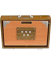 MKS Concert Shruti Box - Teak Wood - Natural Color - 13 Drone (PDI-AGB)