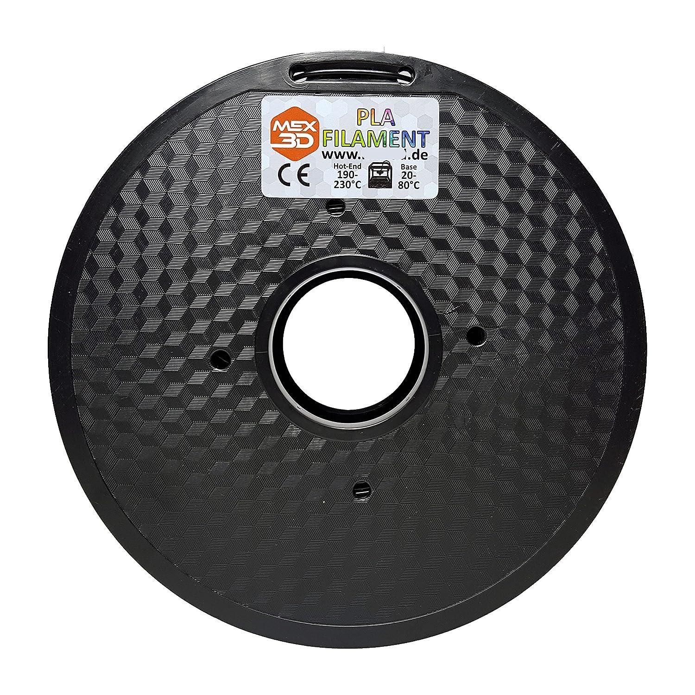 bianco oro verde bianco 3 trasparente arancione mm blu 1 kg bobina//rotolo nero giallo 1 Filamento PLA per la stampa in 3D verde argento MEX3D rosso 1 kg FDM disponibile in vari colori