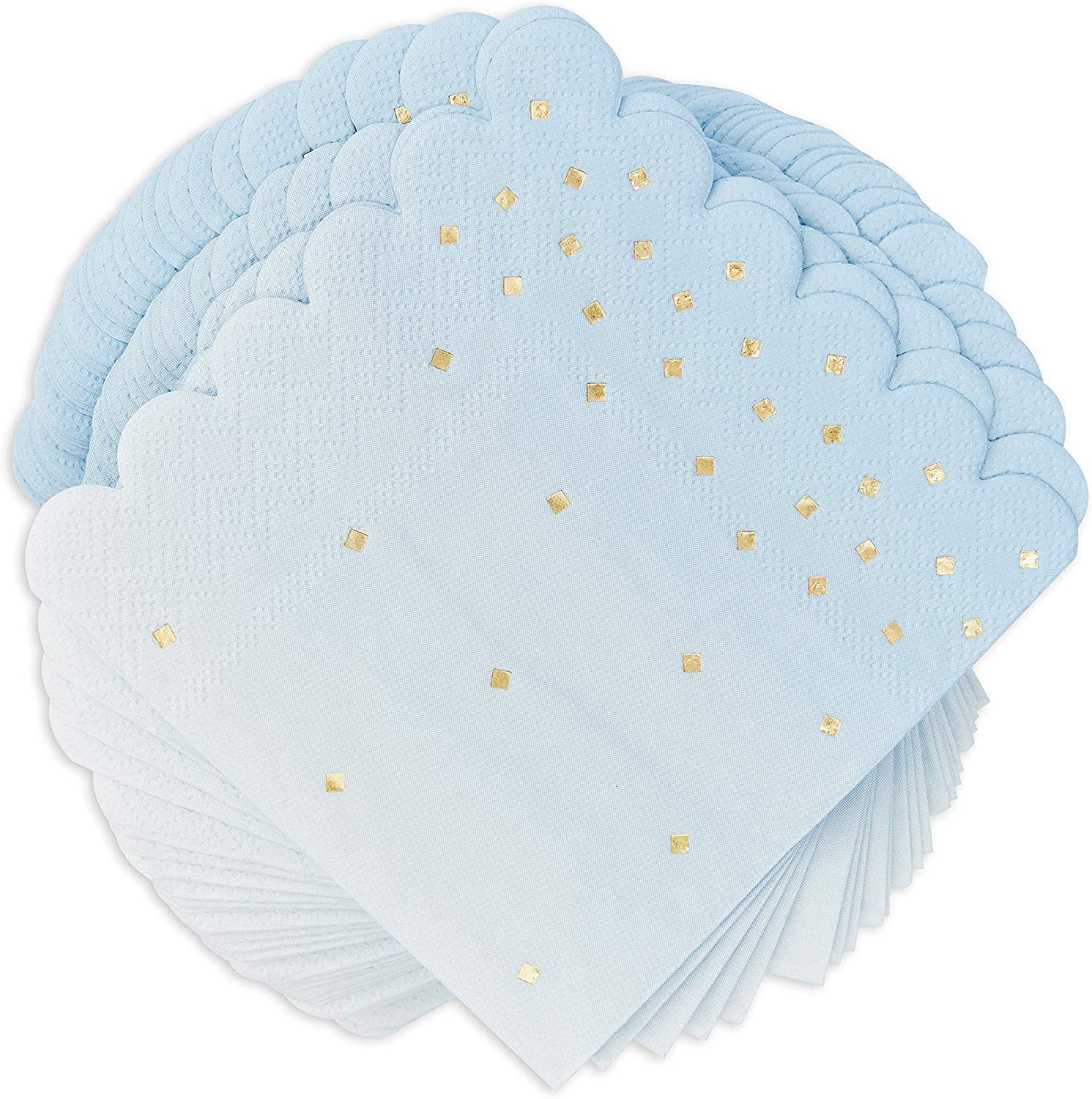 Ombre Cocktail Party Napkins, (5 x 5 in, Blue, 100-Pack)