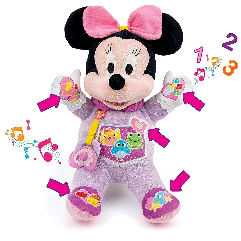 Clementoni Peluche interactiva Minnie Mi Primera Muñeca, Color Rosa, 36.8 x 28.2 x 16.5 (65547)