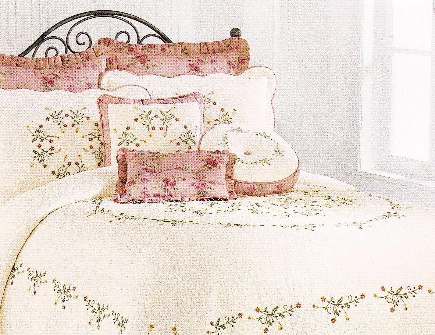 heirloom rose celine euro pillow sham
